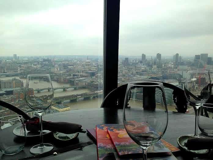 Hutong Shard London view