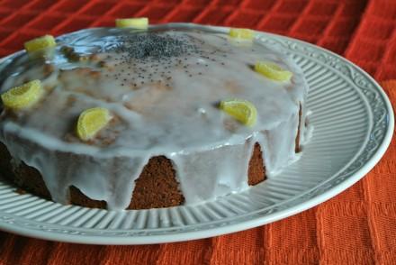 Lemon poppyseed cake recipe baking slice cover