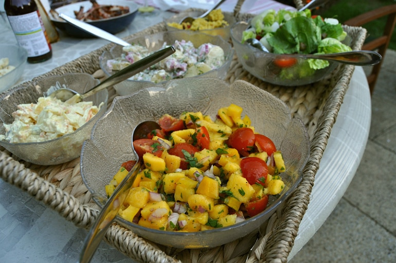 Mango salad BBQ idea