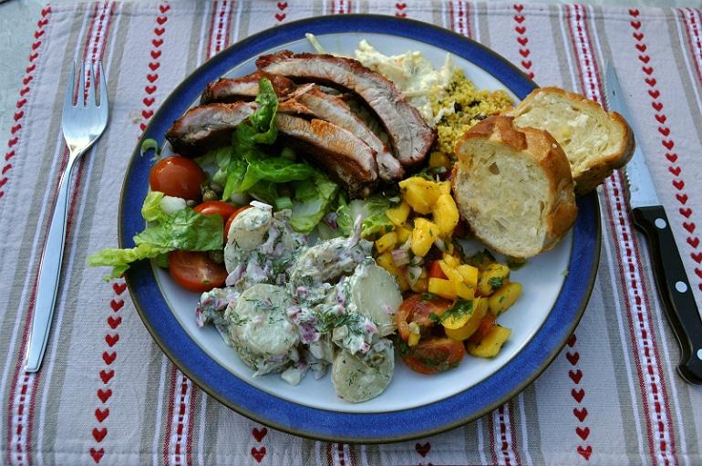 Salad meat BBQ