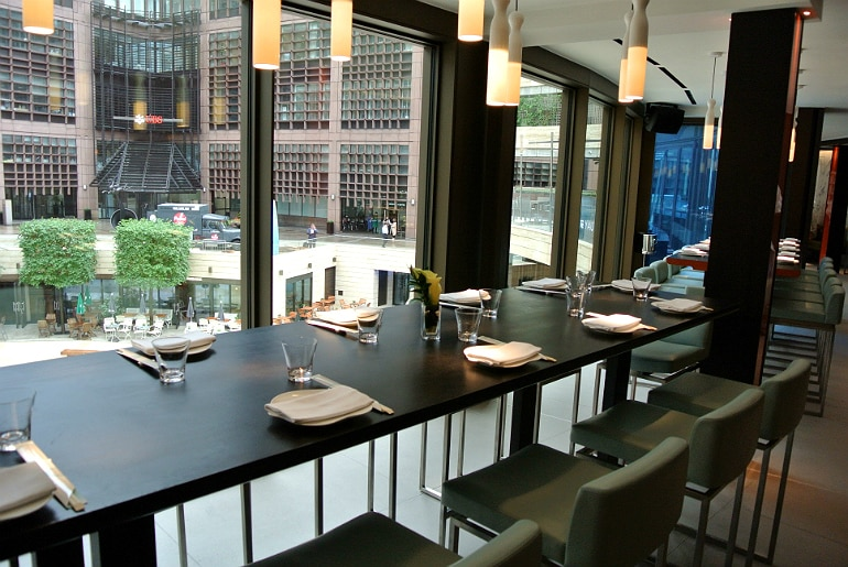 Yauatcha City Broadgate Circle London Review dining