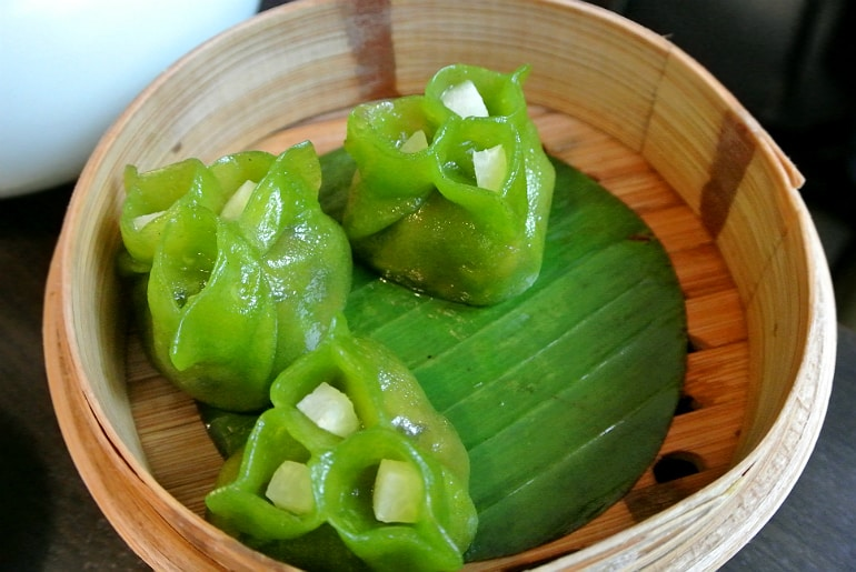 Yauatcha City Broadgate Circle London Review mushroom dumpling