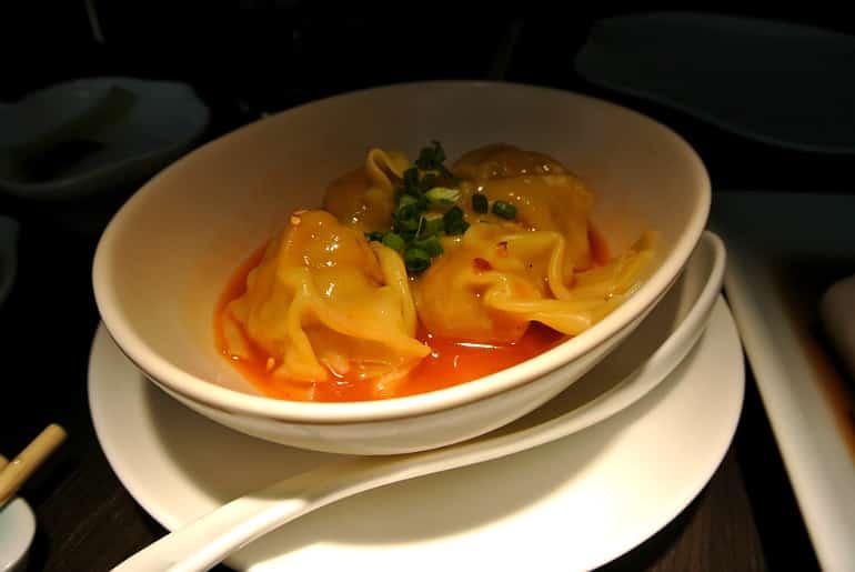 Yauatcha City Broadgate Circle London Review spicy dumpling