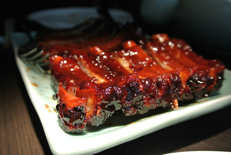 Yauatcha City Broadgate Circle London Review tea smoked ribs