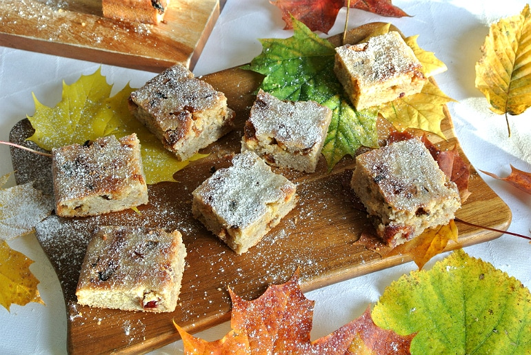 Blondies autumn spice recipe
