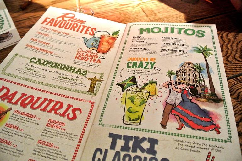 Revolucion de cuba milton keynes cocktail menu