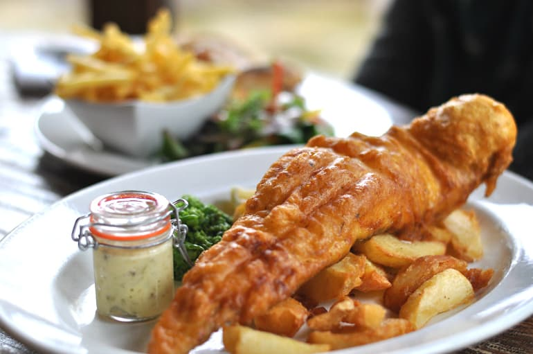 Black horse ireland fish chips