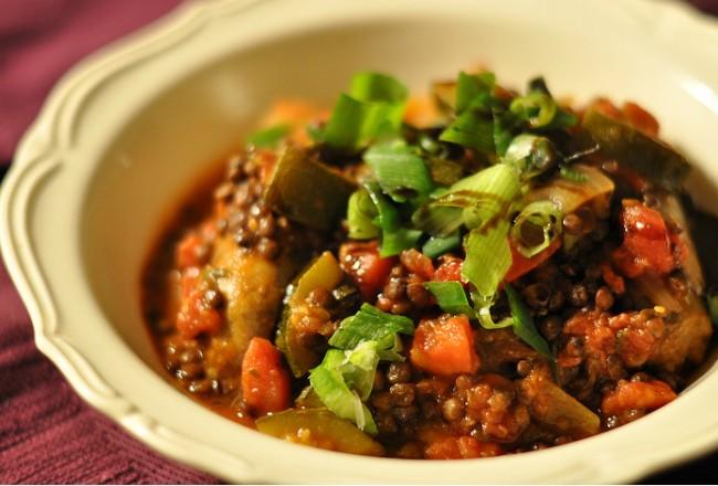 Sausage lentil stew cover
