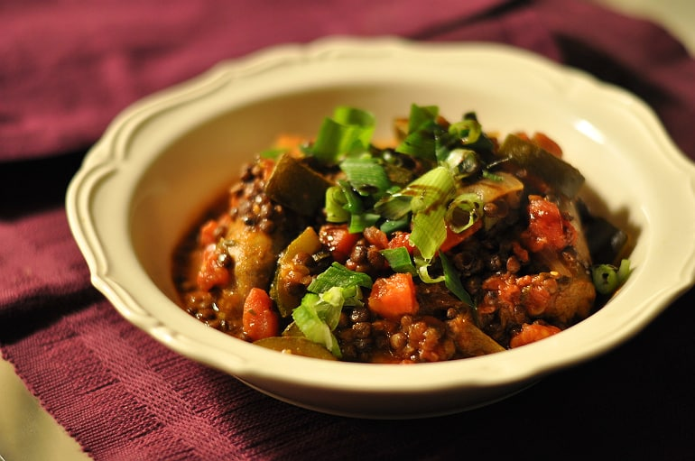 Stew recipe sausage and lentil