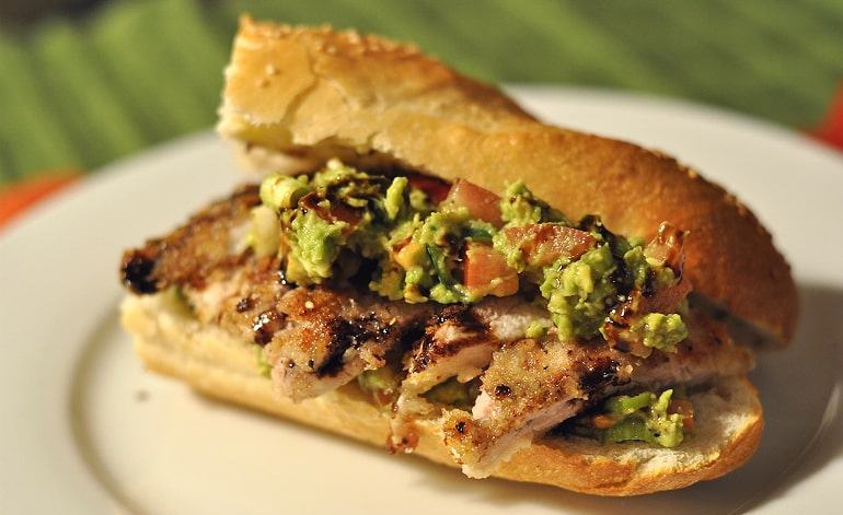 chicken avocado baguette cover