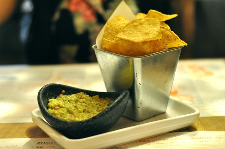 Wahaca London chips guacamole