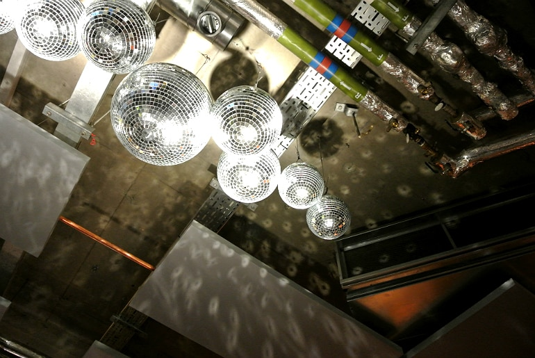 Wahaca London disco balls