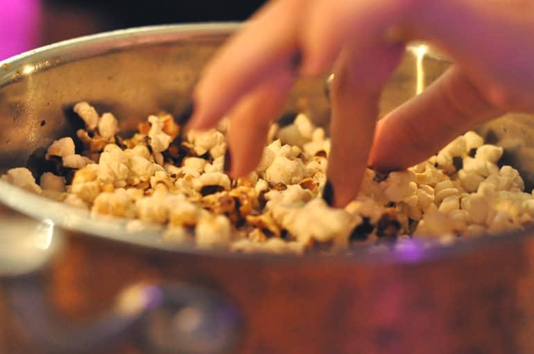 dinner popcorn