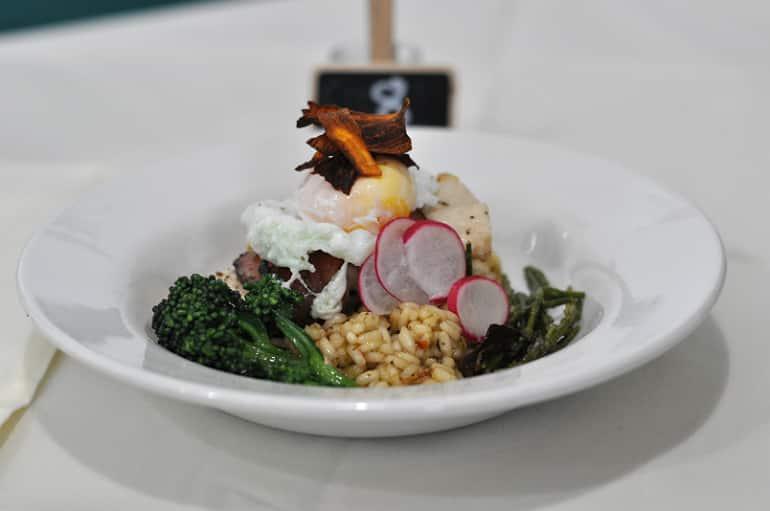mk food awards poached egg starter