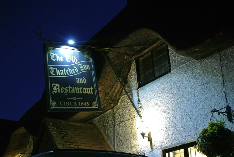 old thatched inn adstock sign