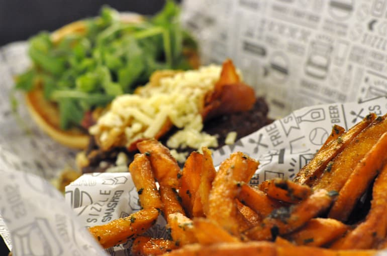 smashburger milton keynes burger sweet potato fries