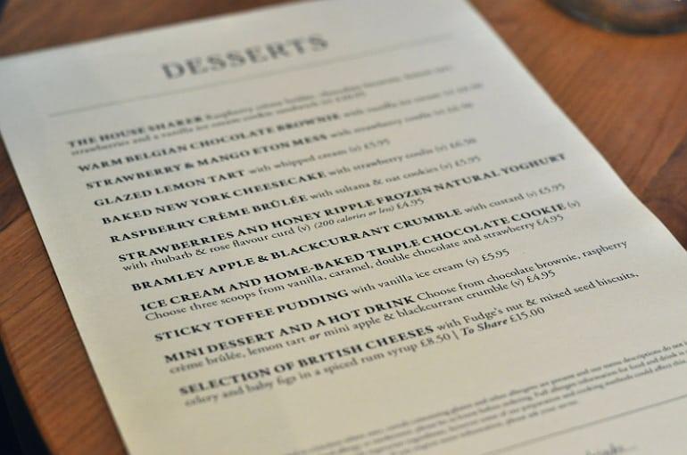 swan woburn sands dessert menu