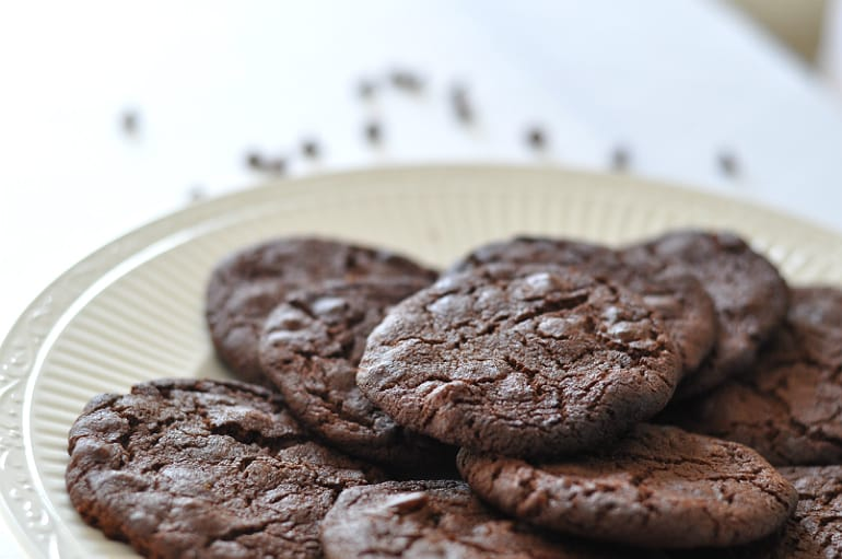recipe for ginger chocolate biscuits girl eats world