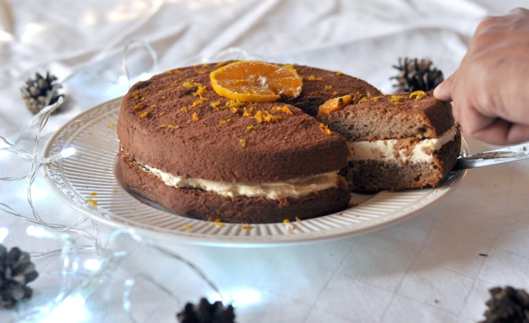 Choclate Orange Christmas Cake