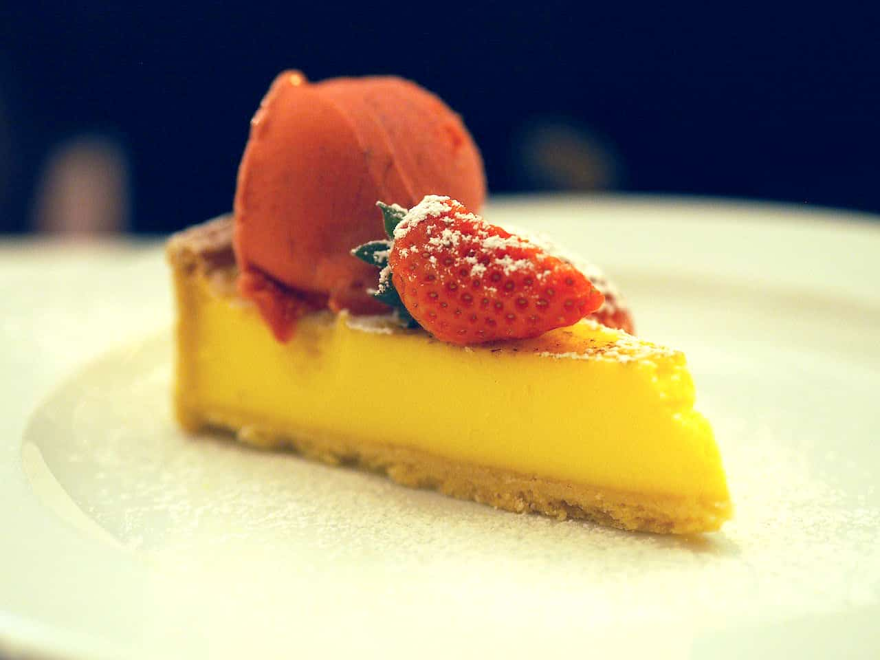 Lemon Tart and Sorbet