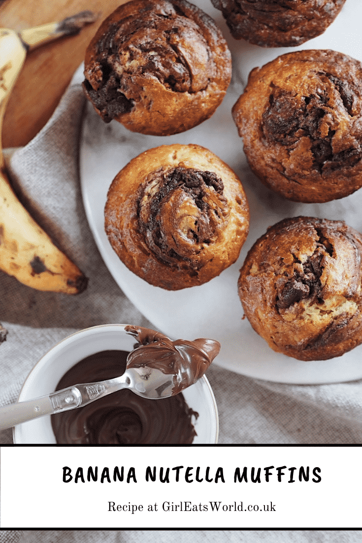banana and nutella muffins recipe